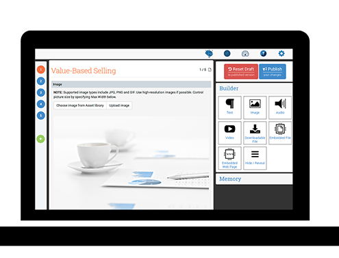 Add content quickly and easily to Veelo's Guided Selling.