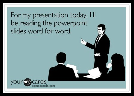 The wrong way to Powerpoint at a sales kick-off