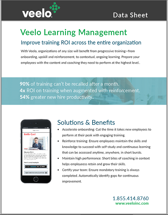 Veelo learning management