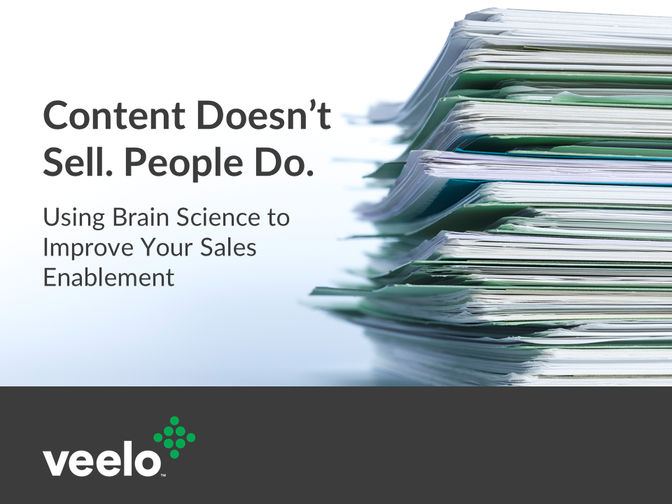 Content Doesn't Sell, People Do | Veelo