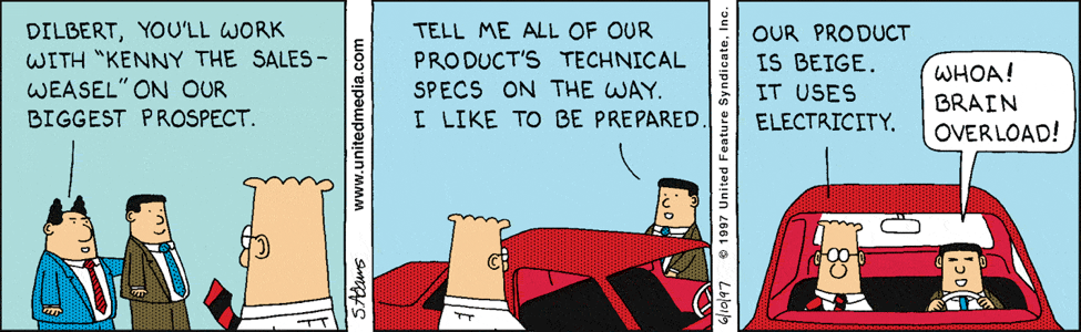 dilbert comic about sales